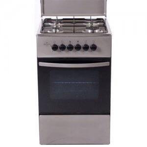 Cuisiniere 4 feux FERRE Silver-50/50-F5C40G2-HI