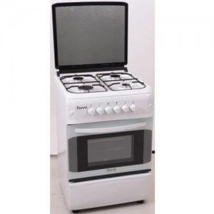 Cuisiniere 4 feux Ferre blanche 60/60