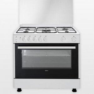 Cuisinière 5 feux BEKO blanche CWYV15117