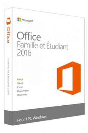 Microsoft Office 2016 Famille & Etudiants