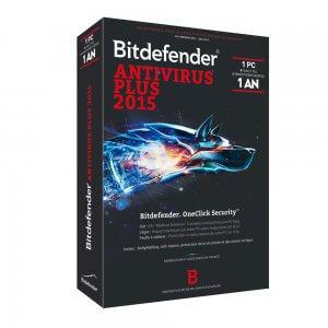 Bitdefender Antivirus Plus 2015 - 1 AN 1 POSTES