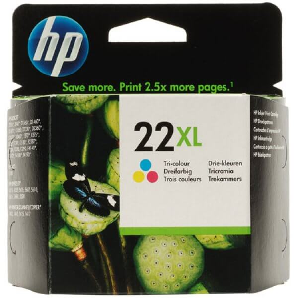 Cartouche d'encre 3 couleurs HP 22XL C9352CE