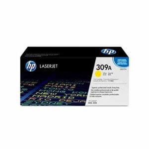 HP 309A toner LaserJet jaune- 4000 pages-(Q2672A)