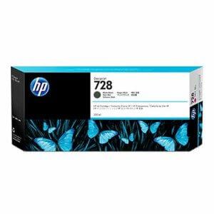 HP 728 noir mat Cartouche d'encre originale - (F9J68A)