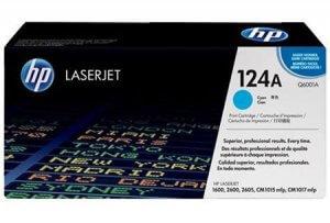 Cartouche de toner HP Laserjet 124A cyan (Q6001A)