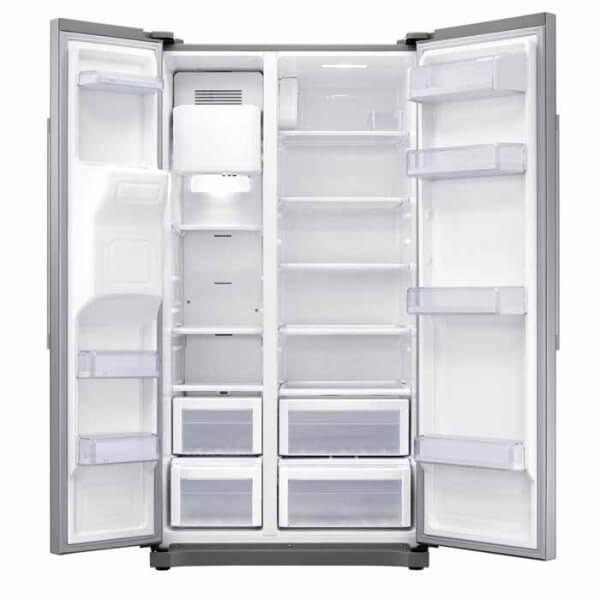Intérieur du réfrigérateur Samsung side by side RS50