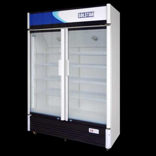 Solstrar, vitrine réfrigérée de 900 litres avec 2 portes