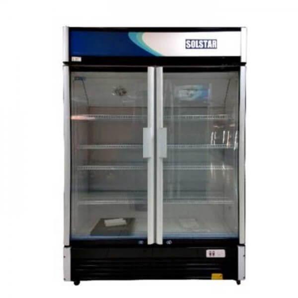 Réfrigérateur Solstar vitrine deux portes de 900 litres