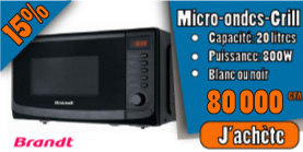 micro-ondes Grill Brandt promotion