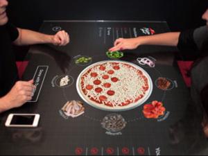 table interactive chez Pizza Hut