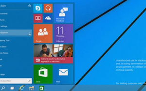 Présentation du menu démarrer du nouvel Windows 9