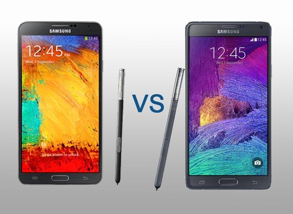 comparaison technique Samsung Note 3 vs Note 4