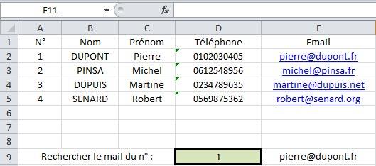 Tutoriel Excel: Fonction Recherche V